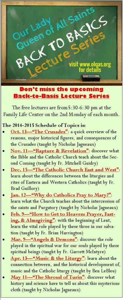 Back to Basics 2014-15 Bulletin Promo