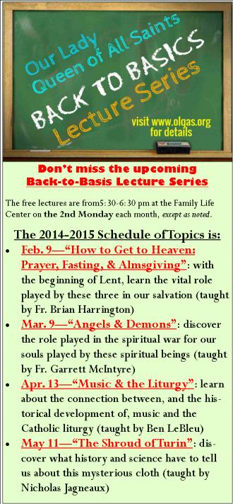 Back to Basics 2014-15 Bulletin Promo Update 01-13-2015