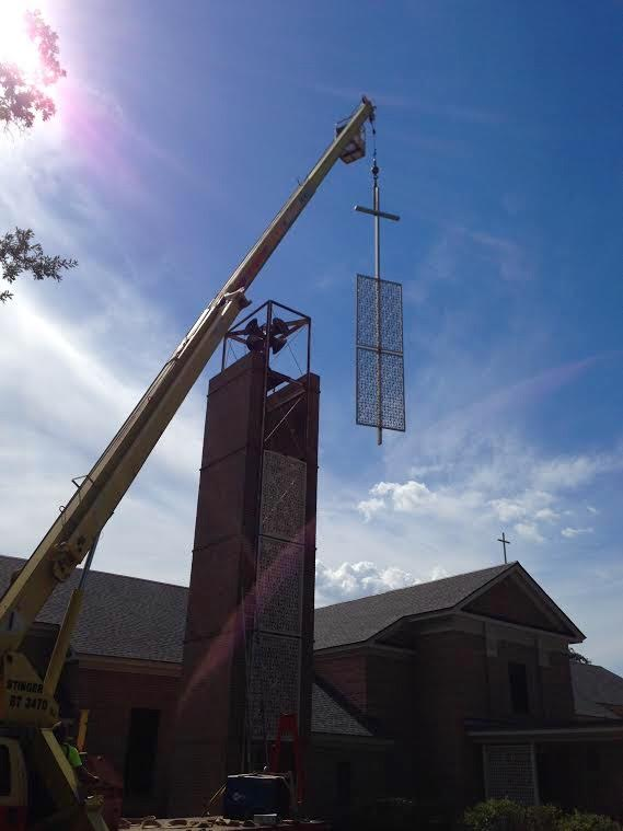Almost finished with the bell tower renovations!