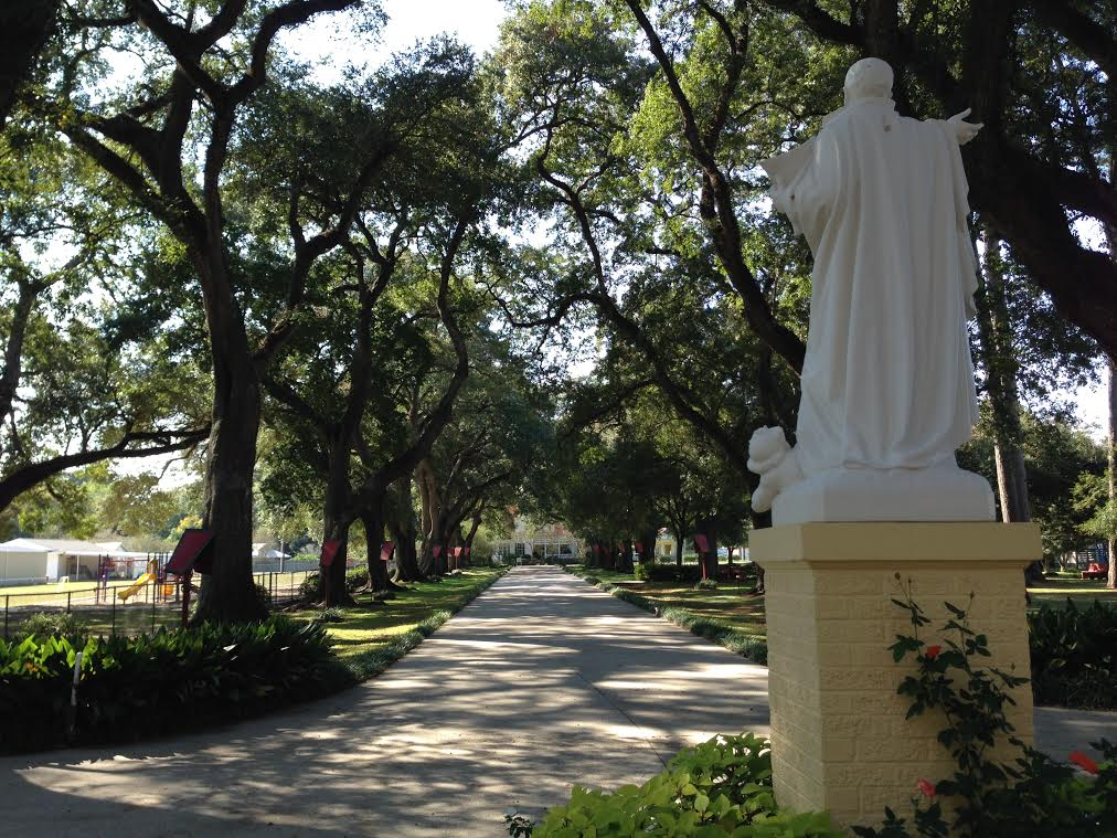 A beautiful view of Our Lady of the Oaks Retreat Center...captured by Fr. Tom before his retreat.